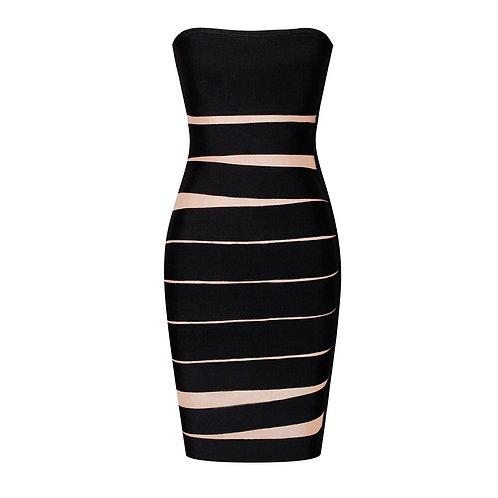 Vintage Strapless Black Dress