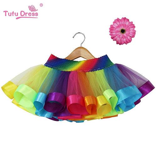 Chiffon Rainbow Tutu Skirt