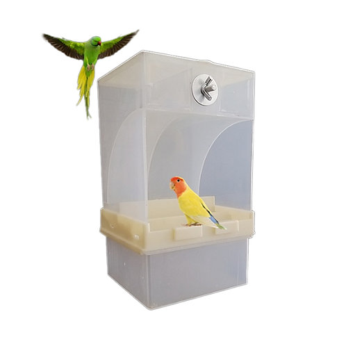 Acrylic  Parrot Integrated Automatic Bird Feeder