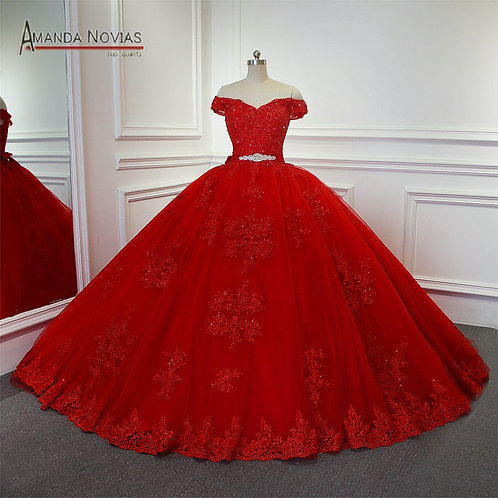 Red Bridal or Ball Princess Gown