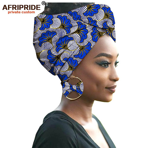 African Headwraps & Earrings - Pure Cotton
