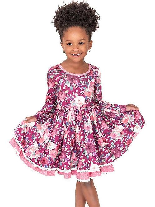Harmony Floral Cross Back Twirl Hugs Dress