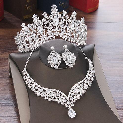 Baroque Crystal Water Drop Rhinestone Jewelry Set