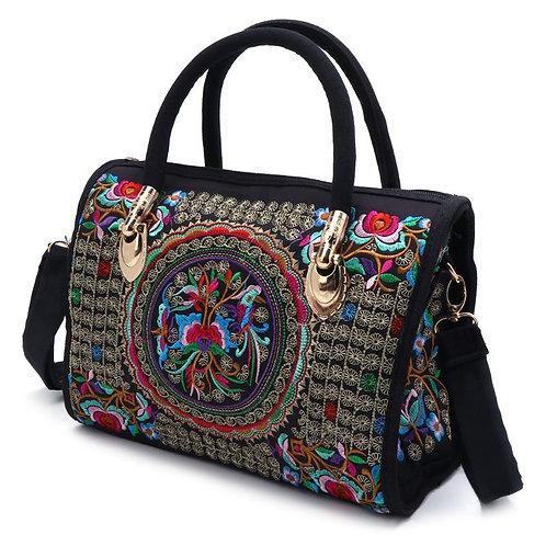 Floral Embroidered Ethnic Boho Handbag