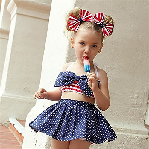 American Patriotic Striped Cotton Outfits