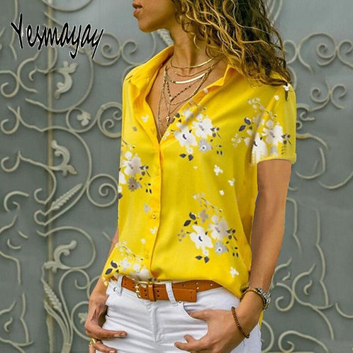 Short Sleeve Print Blouse - up to 5XL