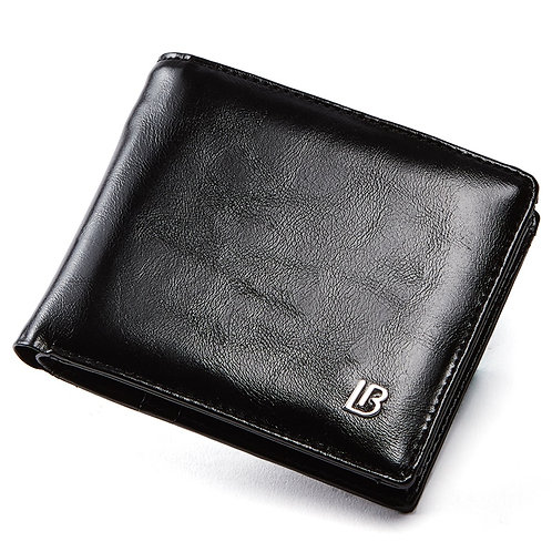 Genuine Leather Men's Bifold Wallet