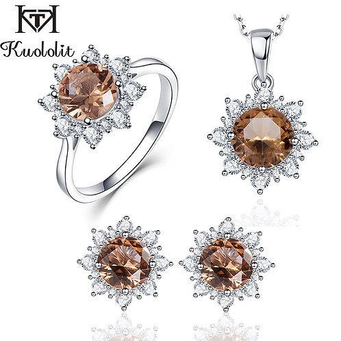 Zultanite Gemstone 925 Sterling Silver Jewelry Set