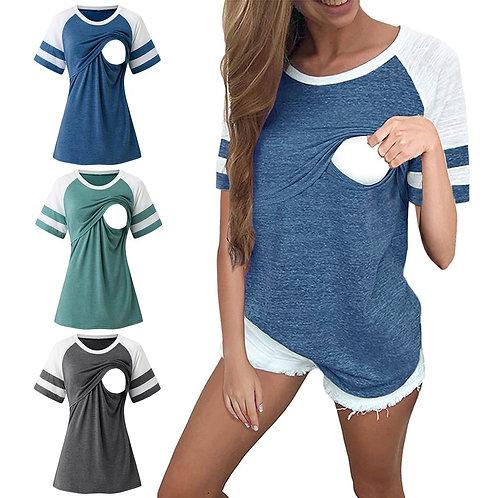 Short Sleeve Nursing Maternity Top
