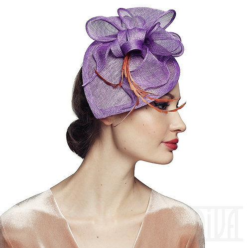 Lavender Women's Fascinator Tea Party Derby Wedding Hat