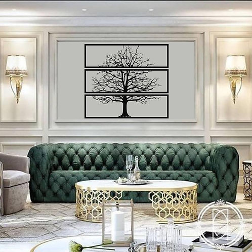 Metal Tree Wall Art, 3 Pieces, Interior Decoration