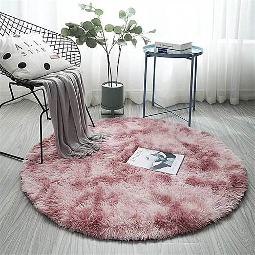 Fluffy Round Nordic Style Rug