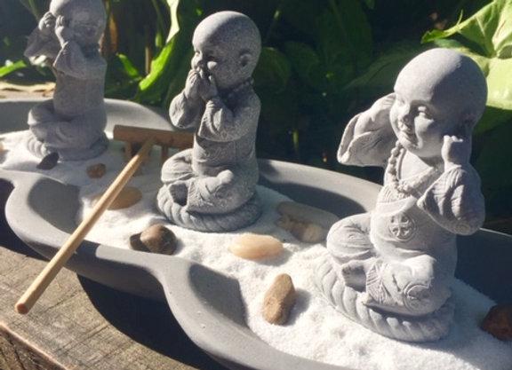 Jardim Zen de pedra sabão