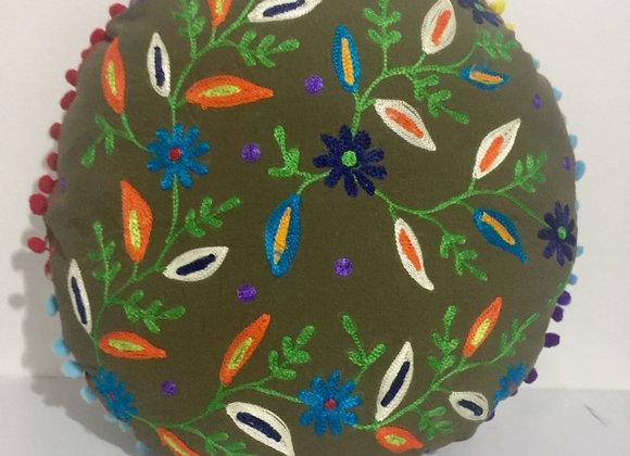 Capa redonda de almofada Indiana