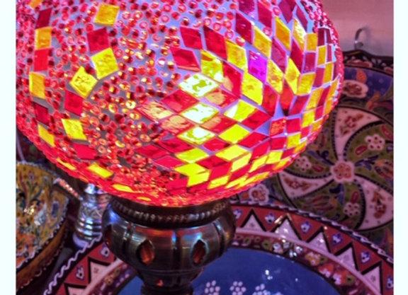 Luminária de teto turca