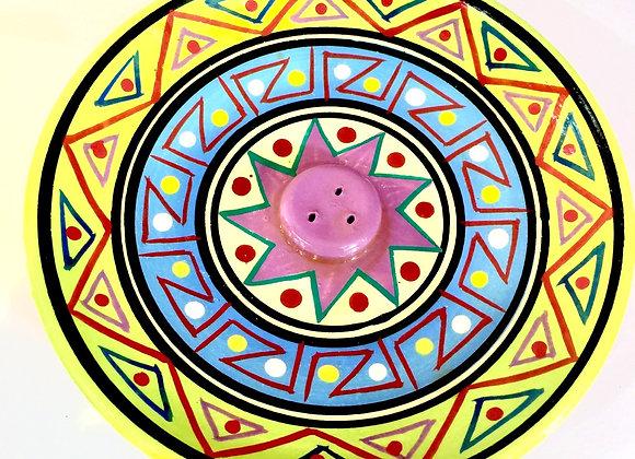 Incensário peruano, colorido.