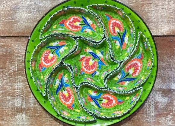 Petisqueira 7 peças com prato
