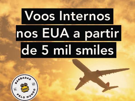 VOOS INTERNOS NOS ESTADOS UNIDOS A PARTIR DE 5 MIL SMILES