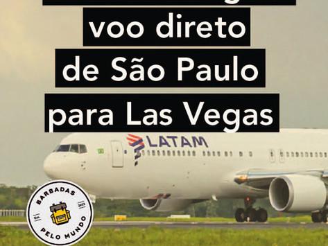 LATAM INAUGURA VOO DIRETO DE SÃO PAULO PARA LAS VEGAS