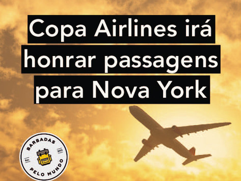 COPA AIRLINES IRÁ HONRAR PASSAGENS PARA NOVA YORK