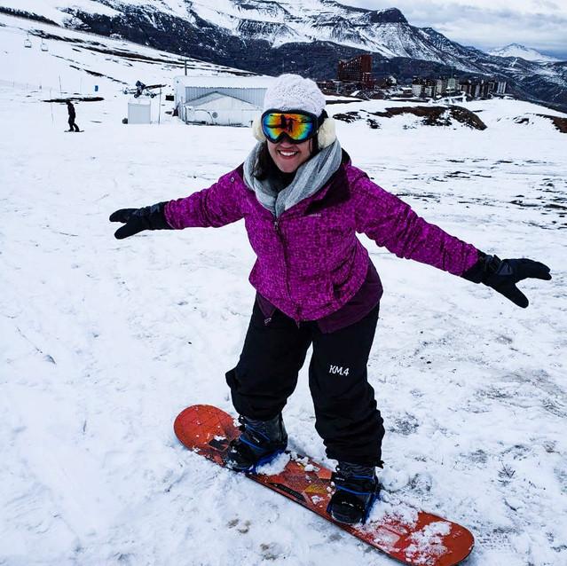 Snowboard no vale nevado no Chile