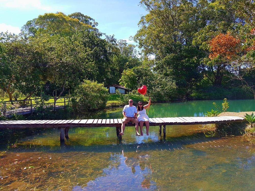 Lago da fazenda São Bento na Chapada dos Veadeiros