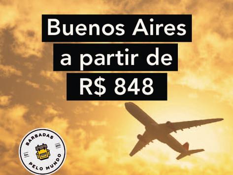 PASSAGENS AÉREAS PARA BUENOS AIRES A PARTIR DE R$848 - IDA E VOLTA COM TAXAS