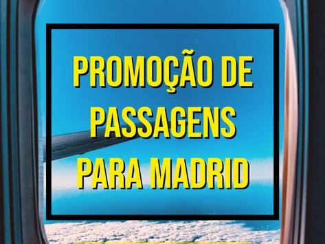 PASSAGENS AÉREAS PARA MADRID A PARTIR DE R$1429