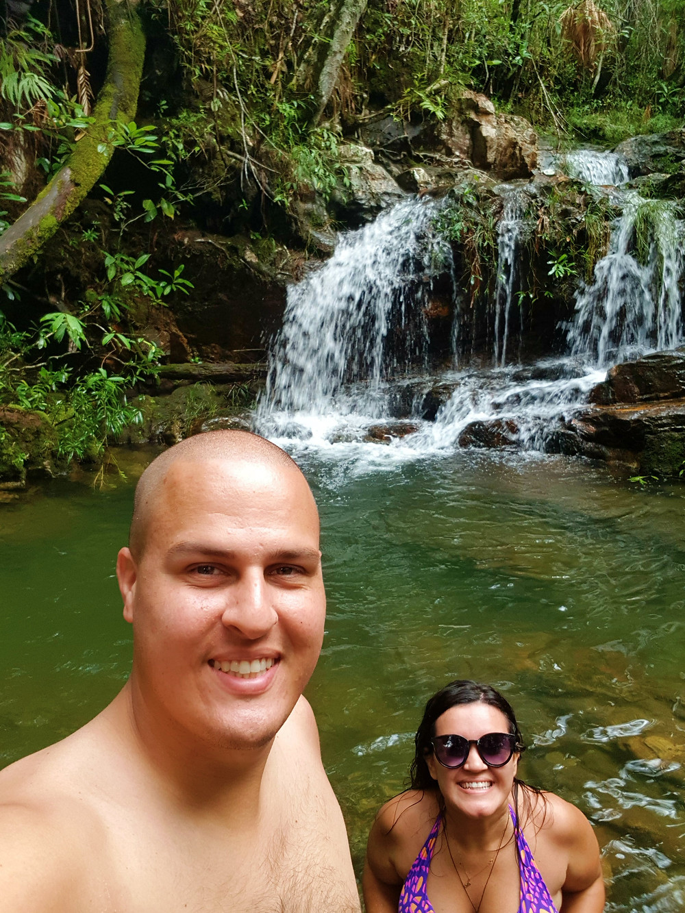 Um dos poços dentro da Cachoeira Loquinhas na Chapada dos Veadeiros