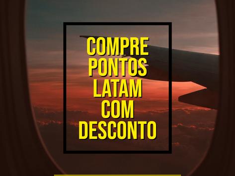 COMPRE PONTOS LATAM COM DESCONTO E ECONOMIZE ATÉ 30% NA EMISSÃO DE PASSAGENS AÉREAS