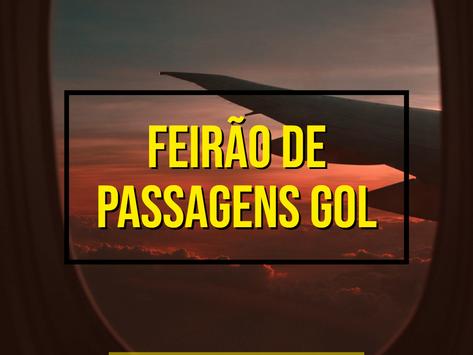FEIRÃO DE ANIVERSÁRIO GOL VENDE PASSAGENS AÉREAS A PARTIR DE R$ 129,90