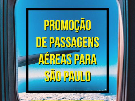 PASSAGENS AÉREAS PARA SÃO PAULO A PARTIR DE R$ 213