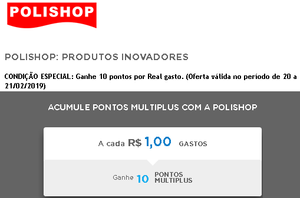 polishop 10 pontos multiplus
