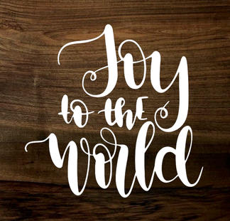 joy to the world (wood panel)