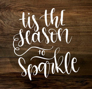 season to sparkle (wood panel)