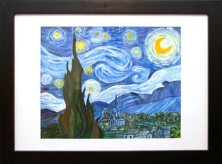 the starry night (framed)
