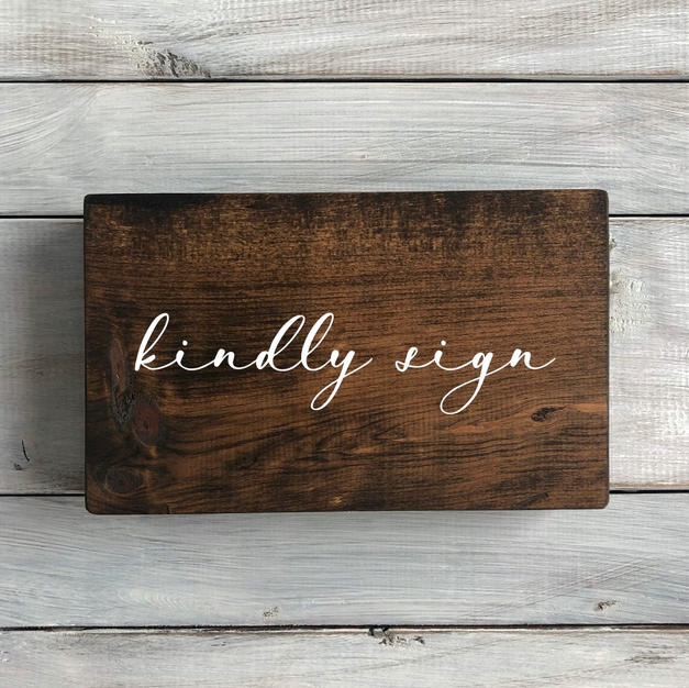 wood sign - sign our guestbook