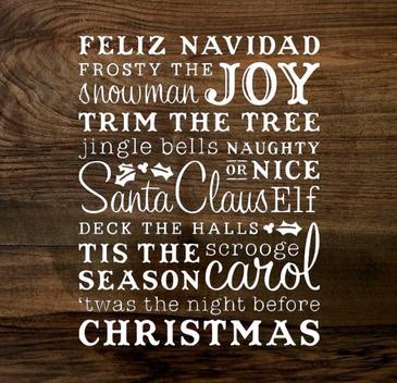 christmas cheer (wood panel)