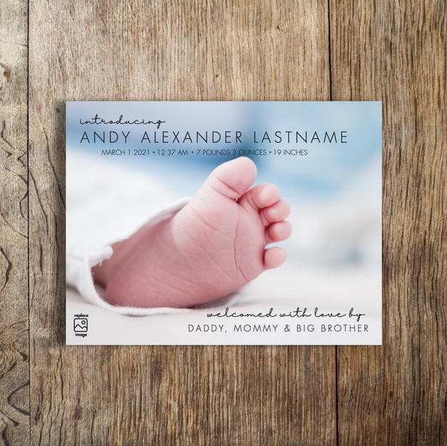 andy birth announcement