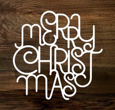 merry christmas (wood panel)