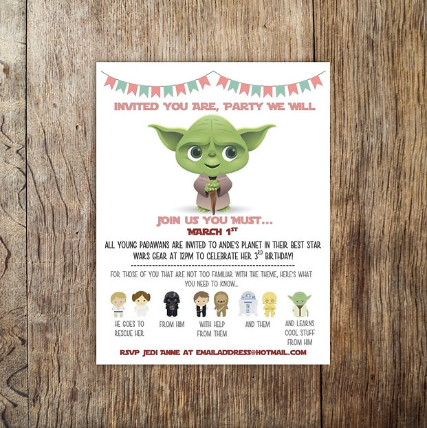 Andie Star Wars Birthday