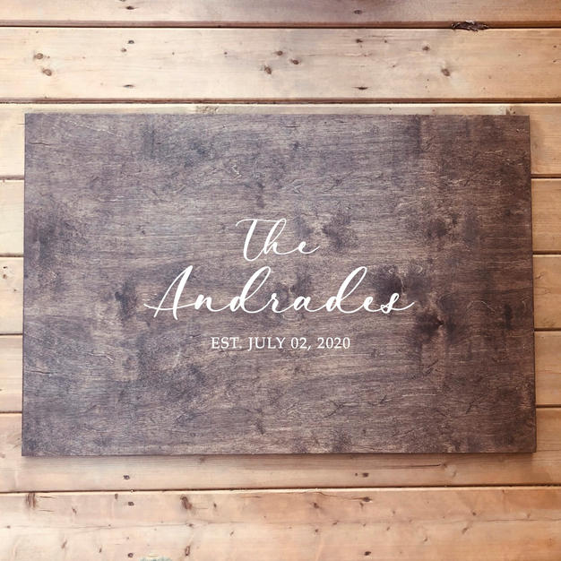 wood sign - guestbook