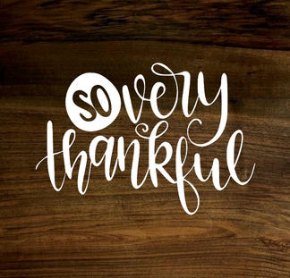 so very thankful (wood panel)