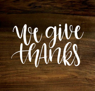 we give thanks (wood panel)