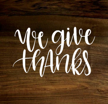 we give thanks (wood panel)