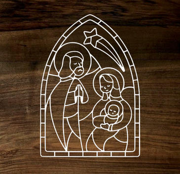 o holy night (wood panel)