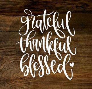 grateful, thankful, blessed (wood panel)