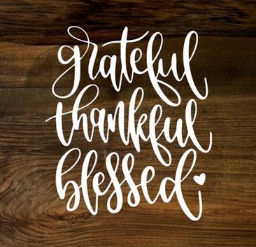 grateful, thankful, blessed (wood panel)