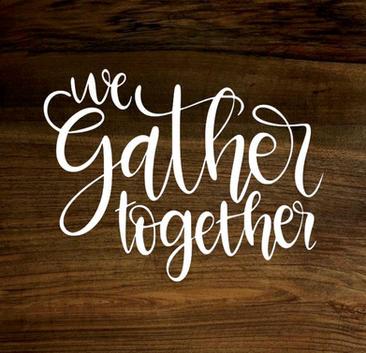 we gather together (wood panel)