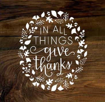 in all things give thanks (wood panel)